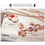 Disneyディズニー ミッキー&ミニー生誕80周年記念キーネックレススワロフスキー使用