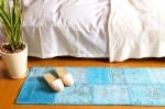 トルコパッチワーク ベッドサイドラグ 45×130