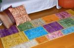トルコパッチワークカーペット Mix  Sサイズ(73x160)