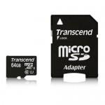 トランセンドmicroSDXCカード Class 10 UHS-I (Premium) 64GB