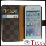 チェック柄iPhoneSケース カードポケット付