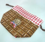 ランチ巾着 チョコレート