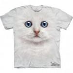 ビッグフェイス プリントTシャツ Ivory Kitten(ネコ)