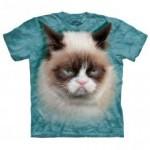 ビッグフェイス プリントTシャツ Grumpy Cat(ネコ)