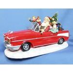 函館クリスマスファクトリー LED付オルゴール(SANTA CAR)