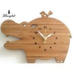 Made in America DECOYLAB(デコイラボ) 掛け時計 HIPPO かば