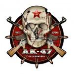 ガレージクロック AK-47カラシニコフ×スカル