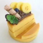 リアルデコケーキ スマホスタンド チョコバナナパンケーキ
