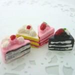 スイーツデコパーツ イチゴショートケーキ4色 20個セット