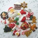 デコパーツ クリスマスパーツ 20種40個セット