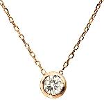K18WG ダイヤモンド0.1ct H/SI ネックレス ピンクゴールド(LARA Christie EXZA)