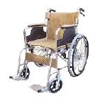 アルミ軽量ノーパンク車椅子(背折れタイプ)【送料無料】