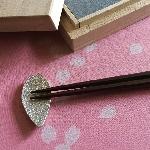 錫 箸置き 桜(桐箱入・5個組)
