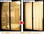 省エネ!断熱・目隠しカーテン(100X228cm) 2枚組