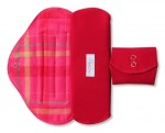お得な2枚入り 布ナプキン MOMIJIナチュラル 普通の日用 23.5cm