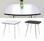 新居猛デザインSHAMIDO「シャミド」ニーダイニングテーブル (ホワイト/ブラウン)