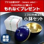 お洒落で可愛い小鉢プレゼント!ブナコ製品1万円以上ご購入でもれなく