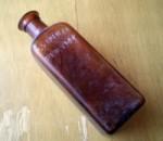 NEW YORK ジャンク 茶色ブラウン アンティーク ガラスボトル 瓶[ビン#2]