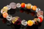 フローライト・ミックス翡翠・真珠貝・天然石ブレスレット
