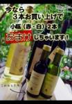 ワイン3本で小瓶2本おまけキャンペーン!!