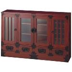 重厚感あふれる和モダンな意匠が格調高い民芸調家具シリーズ。